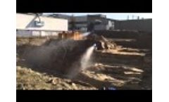 SprayCannon 35 Used at a Soil Remediation Plant Video