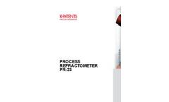 Model PR-23-AP - Sanitary Probe Refractometer Brochure