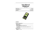 Sarad - Model DOSEman - Radon Exposimeter/Dosimeter - Manual