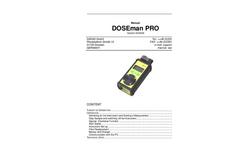 Sarad - Model DOSEman PRO - Radon Daughter Product Dosimeter - Manual