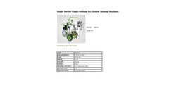 Agrose - Single Bucket Single Milking Dry System Milking Machines - Brochure