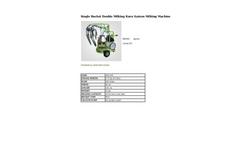 Agrose - Single Bucket Double Milking Kuru System Milking Machine - Brochure