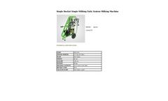 Agrose - Single Bucket Single Milking Fatty System Milking Machine - Brochure