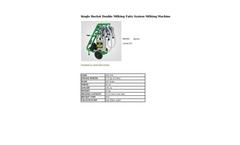 Agrose - Single Bucket Double Milking Fatty System Milking Machine - Brochure