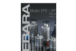 EBARA - Model EPD / Optima - Submersible Stainless Steel Drainage Pump Brochure