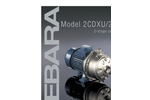 EBARA - Model 2CDXU, 2CDU - Stainless Steel Two Stage End Suction Centrifugal Pump Brochure