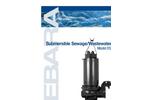 EBARA - Model DSC4 & DSCA4 - Large Submersible Cast Iron Wastewater Sewage Pump Brochure