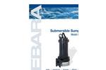 EBARA - Model DSU, DSHU - Submersible Cast Iron Sump Pump Brochure