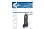 EBARA - Model DVSU, DVSHU - Submersible Cast Iron Semi-Open Vortex Sewage Pump Brochure