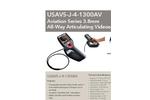 Model USAVS-J-4-1300AV Aviation Series - All Way Articulating 3.8mm Videoscope - Datasheet