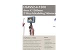 Model USAVS4-4-1500 4mm X 1500mm - 4-Way Articulating Portable Recording Videoscope - Datasheet