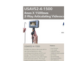 USA Borescopes - Model USAVS2-4-1500 4mm X 1500mm - 2 Way Articulating Portable Recording Videoscope - Datasheet