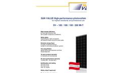 SUN VALUE - Model SV - 185 /190 /195 / 200 MI-T - High-Performance Monocrystalline Modules Brochure