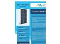 Ankara Solar - Model AS-6P 245-265W - Polycrystalline Solar Panels - Brochure