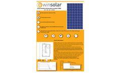 WinSolar - Model WNS-250-P60 - Policrystalline Module - Brochure