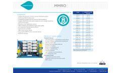 MECO - Model MMRO - Reverse Osmosis System - Datasheet