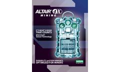 MSA ALTAIR - 4X Mining Multigas Detector - Datasheet