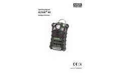 MSA ALTAIR - Model 4X - Multigas Detector - Manual