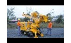 DRILLING RIG MM4 for micropiles, anchors, geotechnical investigations and geothermal boreholes Video