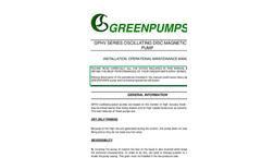 Model GPHV – Caster MHV - Oscillating Piston Pumps - Brochure