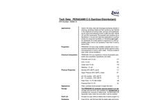 Perasan - Model C5 - Sanitizer and Disinfectant Datasheet
