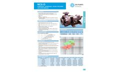 NCU - Model O - Horizontal, Centrifugal, Volute-Type Pumps with Open Impeller Brochure