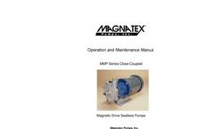 Magnatex - Model MMP Series - Magnetic Drive Sealless Pump Brochure