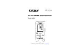 Extech - Model AN500 - Hot Wire CFM/CMM Thermo-Anemometer - Manual