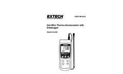 Extech - Model SDL350 - Hot Wire CFM Thermo-Anemometer/Datalogger - Manual