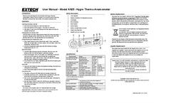 FLIR - Model AN25 - Heat Index Anemometer - Manual