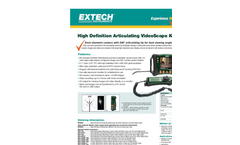 Extech - Model HDV640 - HD VideoScope Kit with HDV600 Monitor and Handset/Articulating Probe - Datasheet