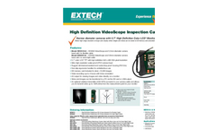 Extech - Model HDV610 - High Definition VideoScope Kit with HDV600 Monitor and 5.5mm Flexible Probe - Datasheet