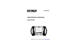 Extech - Model HDV640W - HD VideoScope Kit with HDV600 Monitor and Wireless Handset/Articulating Probe - Manual