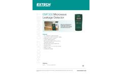 Extech - Model EMF300 - Microwave Leakage Detector - Datasheet