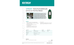 Extech - Model VFM200 - VOC/Formaldehyde Meter - Datasheet