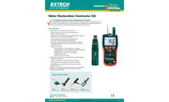 Extech - Model MO290-RK - Water Restoration Contractor Kit - Datasheet