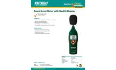 Extech - Model 407732 - Low/High Range Sound Level Meter - Datasheet
