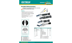 Extech - Model RF40 - Portable Battery Coolant/Glycol Refractometer with ATC (°F) - Datasheet