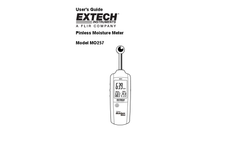 Extech - Model MO257 - Pinless Moisture Meter - Manual