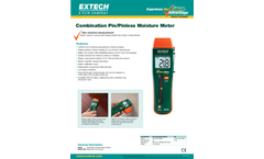 Extech - Model MO260 - Combination Pin/Pinless Moisture Meter - Datasheet