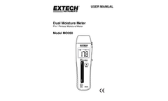 Extech - Model MO260 - Combination Pin/Pinless Moisture Meter - Manual