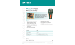 Extech - Model MO50 - Compact Pin Moisture Meter - Datasheet