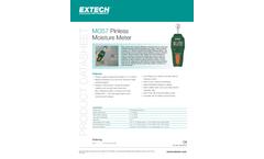 Extech - Model MO57 - Pinless Moisture Meter - Datasheet