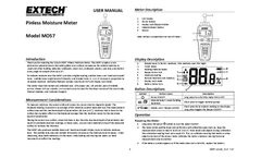 Extech - Model MO57 - Pinless Moisture Meter - Manual