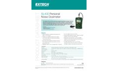 Extech - Model SL400 - Personal Noise Dosimeter with USB Interface - Datasheet