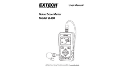 Extech - Model SL400 - Personal Noise Dosimeter with USB Interface - Manual