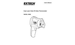 Extech/Flir - Model VIR50 - Dual Laser IR Video Thermometer - Manual