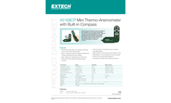 Extech - Model 45168CP - Mini Thermo-Anemometer with Built-in Compass - Datasheet