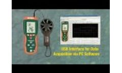 Extech HD300 Thermo-Anemometer Showcase - Video