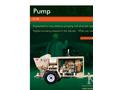 Model X-10 - Ultra High Pressure Swing Tube Piston Pump – Brochure